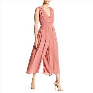 Superfoxx • Pink Cutout Culottes Jumpsuit